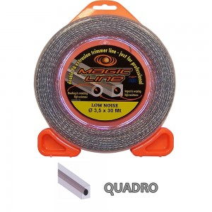Filo per decespugliatore Magic quadro - Ø 3,5 x 30 mt
